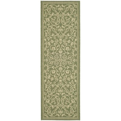 Bexton Green Outdoor Area Rug Rug Size: Runner 23 x 12
