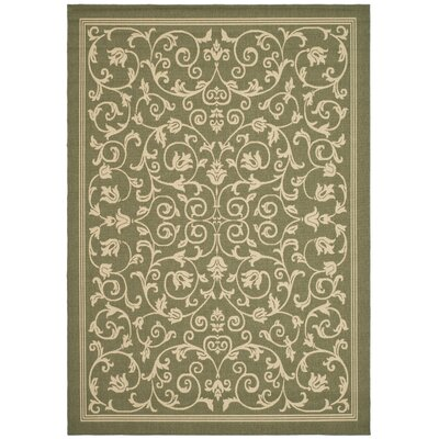 Bexton Green Outdoor Area Rug Rug Size: 53 x 77