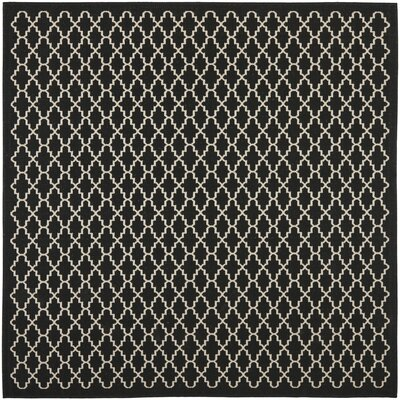 Bexton Black / Beige Outdoor Area Rug Rug Size: Square 710