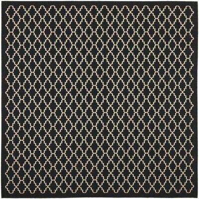 Bexton Black / Beige Outdoor Rug Rug Size: Square 710