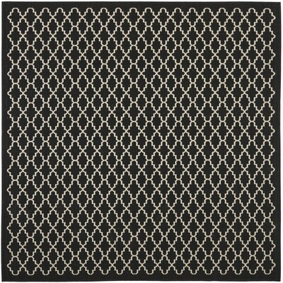 Bexton Black / Beige Outdoor Area Rug Rug Size: Square 67