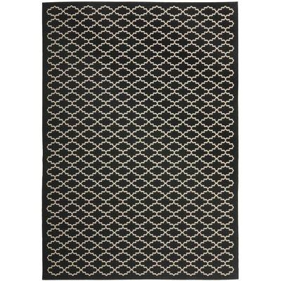 Bexton Black / Beige Outdoor Area Rug Rug Size: Rectangle 67 x 96