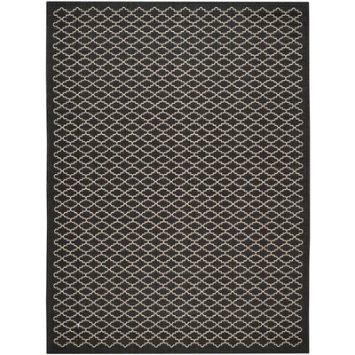 Bexton Black / Beige Outdoor Area Rug Rug Size: Rectangle 8 x 112
