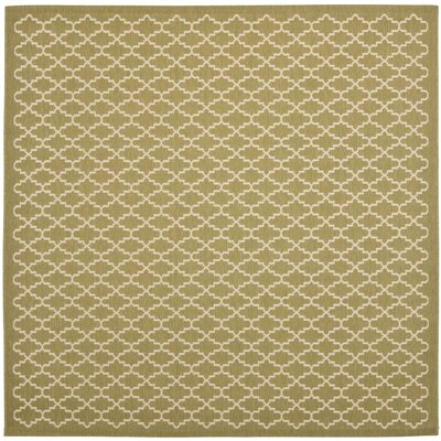 Bexton Green / Beige Outdoor Rug Rug Size: Square 67