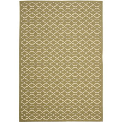 Bexton Green / Beige Outdoor Rug Rug Size: Rectangle 67 x 96
