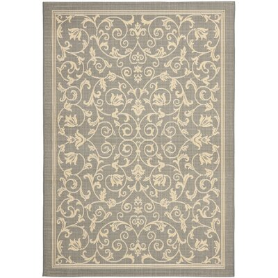 Bexton Natural/Gray Outdoor Area Rug Rug Size: Square 67