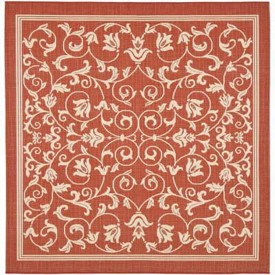 Bexton Red / Natural Indoor/Outdoor Rug Rug Size: Square 710