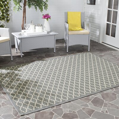 Bexton Anthracite / Beige Indoor/Outdoor Rug Rug Size: 53 x 77