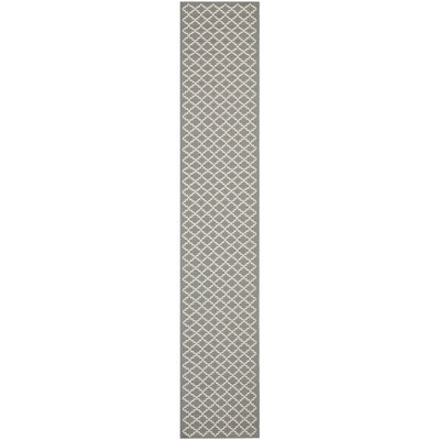 Bexton Anthracite/Beige Indoor/Outdoor Area Rug Rug Size: Runner 23 x 8