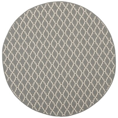 Bexton Anthracite/Beige Indoor/Outdoor Area Rug Rug Size: Round 67