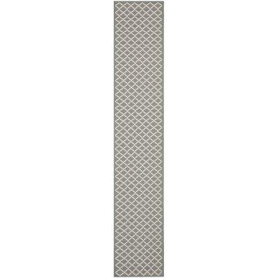 Bexton Anthracite/Beige Indoor/Outdoor Rug Rug Size: Runner 23 x 8