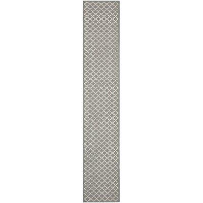 Bexton Anthracite/Beige Indoor/Outdoor Rug Rug Size: Runner 23 x 18
