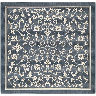 Bexton Navy & Beige Outdoor/Indoor Area Rug II Rug Size: Square 67