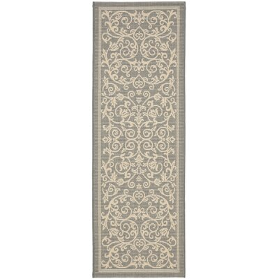Bexton Grey/Natural Outdoor Area Rug Rug Size: Runner 2'4 x 14'