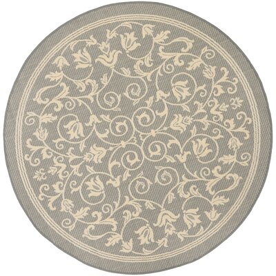 Bexton Grey/Natural Outdoor Area Rug Rug Size: Round 7'10