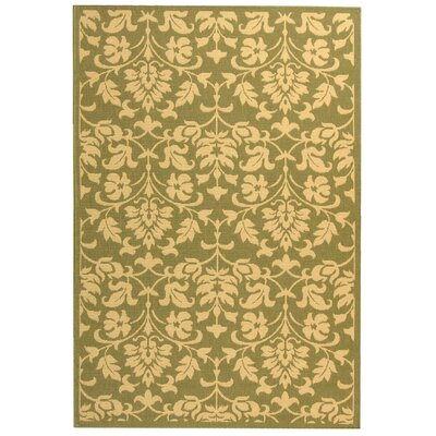 Bexton Olive/Natural Indoor/Outdoor Area Rug Rug Size: Rectangle 53 x 77