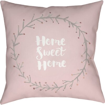 Lyle Indoor/Outdoor Throw Pillow Size: 18 H x 18 W x 4 D, Color: Pink