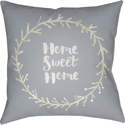 Cobleskill Outdoor Throw Pillow Size: 20 H x 20 W x 4 D, Color: Gray/Green