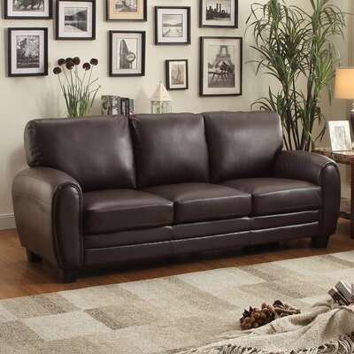 Leith Sofa Upholstery: Dark Brown