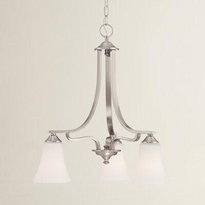 Oakside 3-Light Shaded Chandelier Finish: Brushed Nickel