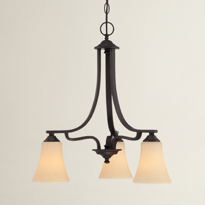 Oakside 3-Light Shaded Chandelier Finish: Espresso