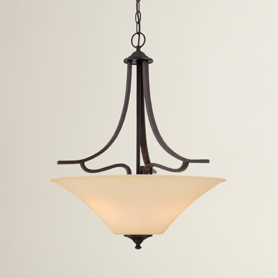 Oakside 3-Light Inverted Pendant Finish: Espresso