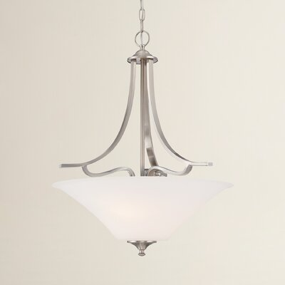 Oakside 3-Light Inverted Pendant Finish: Brushed Nickel