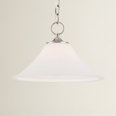 Oakside 1-Light Mini Pendant Finish: Brushed Nickel