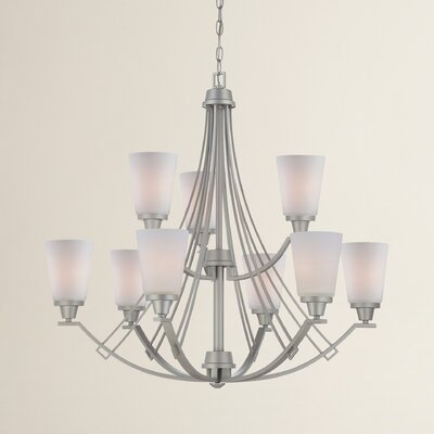 Oakside 9-Light Shaded Chandelier Finish: Brushed Nickel