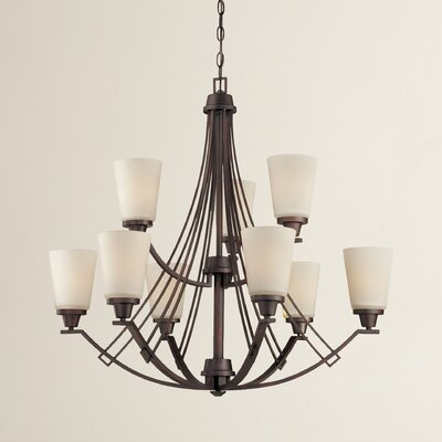 Oakside 9-Light Shaded Chandelier Finish: Espresso
