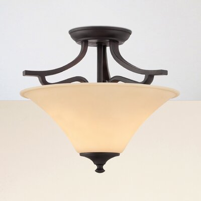 Oakside 2-Light Semi Flush Mount Finish: Espresso