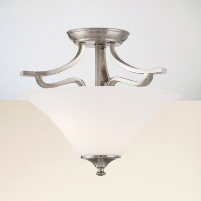 Oakside 2-Light Semi Flush Mount Finish: Brushed Nickel