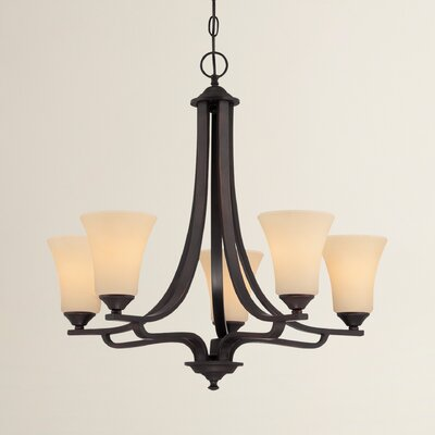 Oakside 5-Light Shaded Chandelier Finish: Espresso