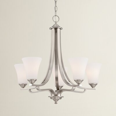 Oakside 5-Light Shaded Chandelier Finish: Brushed Nickel