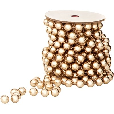 Alcott Hill Metallic Bead Garland (Set of 2)