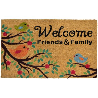 Savannah Heights Friends and Family Doormat Rug Size: Rectangle 110 x 3