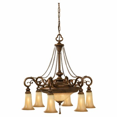 Norwood 6 Light Shaded Chandelier