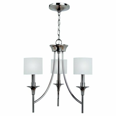 Foland 3-Light Shaded Chandelier Finish: Brushed Nickel