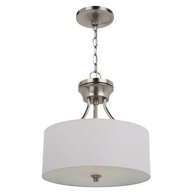 Foland 2-Light Semi Flush Mount Finish: Brushed Nickel, Bulb Type: Incandescent Medium 60W