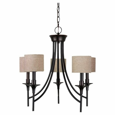 Foland 5-Light Shaded Chandelier Finish: Burnt Sienna