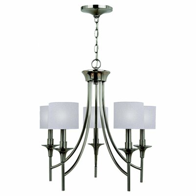 Foland 5-Light Shaded Chandelier Finish: Brushed Nickel