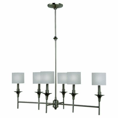 Foland 6-Light Shaded Chandelier Finish: Brushed Nickel