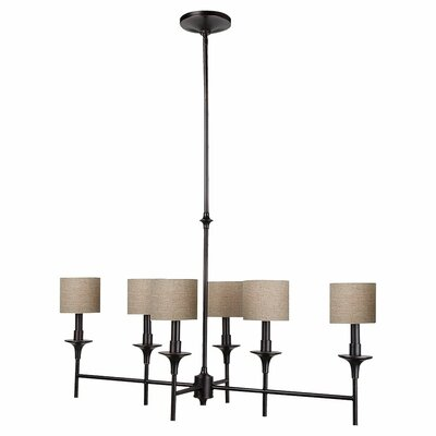 Foland 6-Light Shaded Chandelier Finish: Burnt Sienna