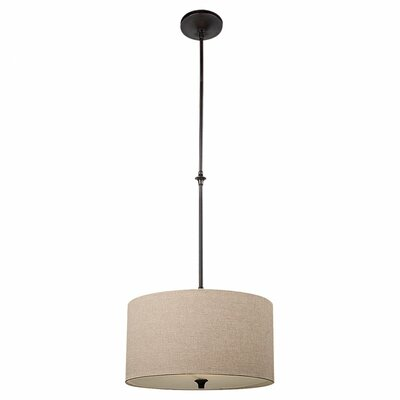 Foland 1-Light Drum Pendant Finish: Burnt Sienna