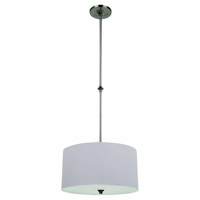 Foland 1-Light Drum Pendant Finish: Brushed Nickel