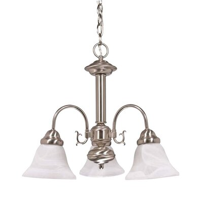 Gurney 3-Light Shaded Chandelier Energy Star: Yes