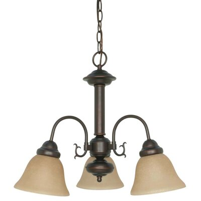 Gurney 3-Light Shaded Metal Chandelier Energy Star: No