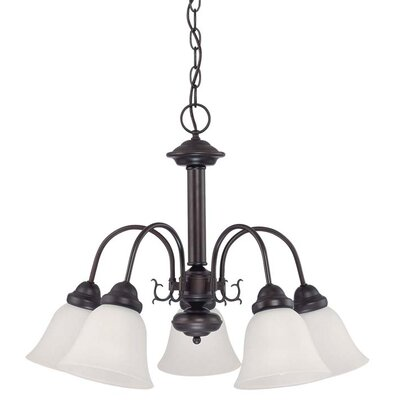 Melrose 5-Light Shaded Chandelier Energy Star: Yes