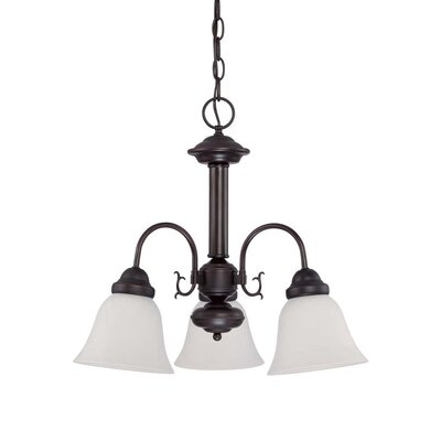 Gurney 3-Light Shaded Traditional Metal Chandelier Energy Star: No