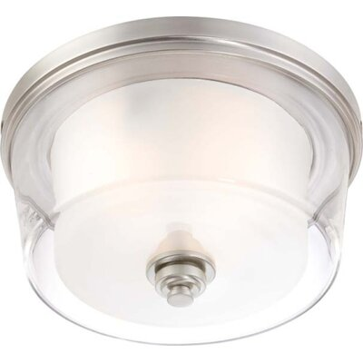 Waynesville 3-Light Flush Mount Finish / Glass Color: Brushed Nickel/ Clear Outer with Frosted Inner